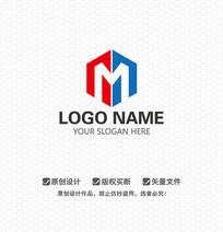 M字母工程建筑LOGO设计