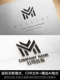 M字母logo标志M商标