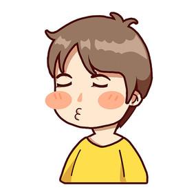 黄衣服小男孩-亲表情包