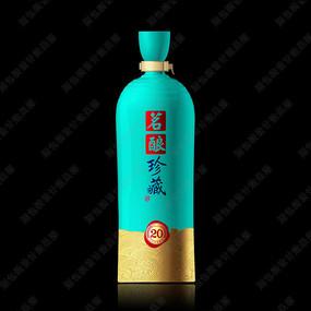 茗酿珍藏酒瓶设计效果图