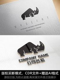 犀牛logo标志公司商标设计