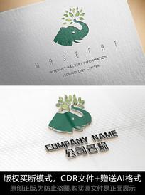 大象logo标志大象商标