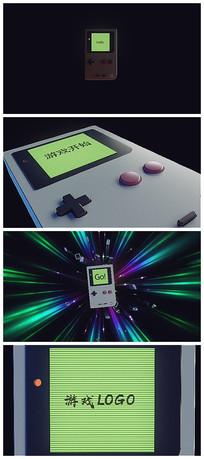复古老式游戏机片头logo视频模板