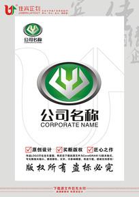Y英文字母汽车轿车电动车车标志设计