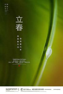 大气时尚立春24节气海报设计