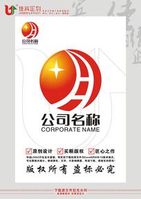 月字太阳科技标志设计