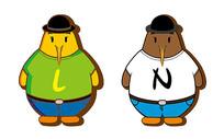 原创ai矢量扁平化kiwi鸟卡通形象设计