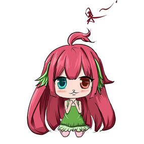 可爱少女表情包 PSD