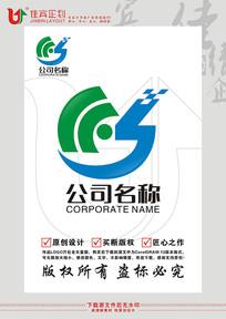 SC英文字母科技智能标志设计