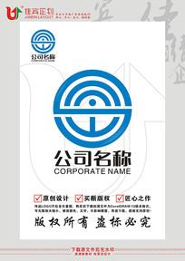 S英文字母科技标志设计