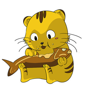 黄色小肥猫表情包 PSD