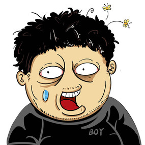 暴躁胖男孩表情包 PSD
