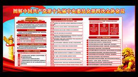 大气中国共产党十九届四中全会宣传展板