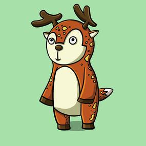 彩色背景动物卡通表情包 PSD