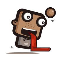 超长舌头创意小人手绘卡通表情包