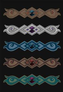 蒙古式图案花纹设计