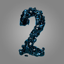 金属流体倒计时周年庆数字2