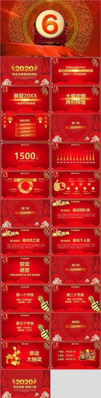 新年红色喜庆总结汇报PPT模板