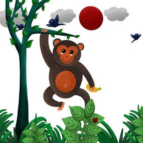 原创猴子元素 PSD
