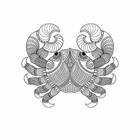 原创素材十二星座之巨蟹座 PSD