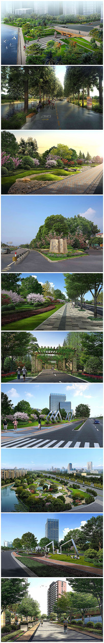 道路景观改造设计psd效果图
