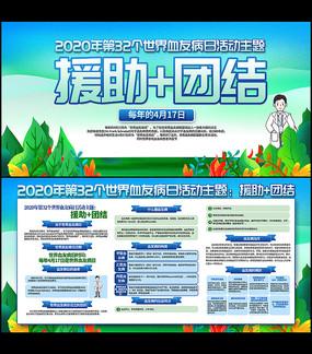 2020年第32个世界血友病日宣传展板 PSD