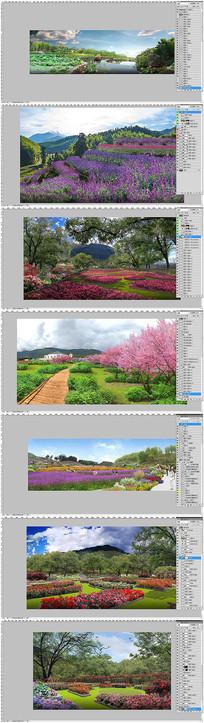花海景区农业观光园区效果图分层素材