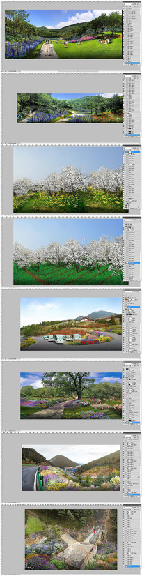 花境景区农业观光园区效果图素材
