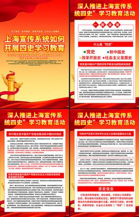 四史教育活动宣传展板 PSD