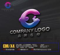 创意E字母logo兔子标志设计