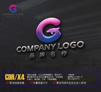 创意G字母LOGO海豚标志设计