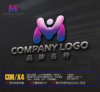 创意YM字母LOGO标志