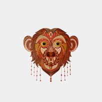 原创十二生肖猴插画