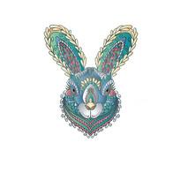 原创十二生肖兔插画