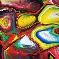 彩色抽象艺术油画无框画