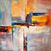 高清抽象立体艺术油画玄关
