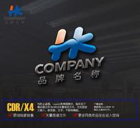 HK字母 logo标志设计