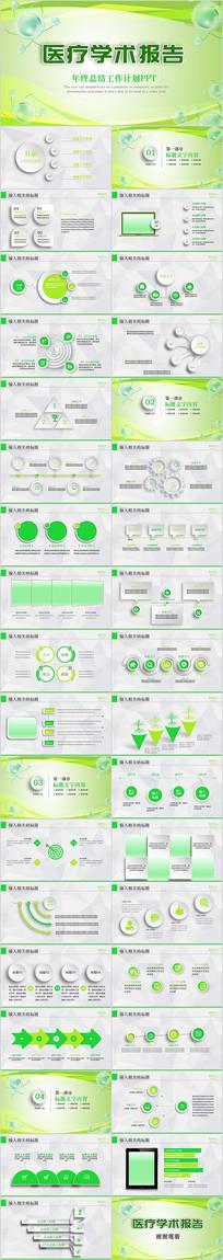 绿色清新医疗学术报告动态PPT模板