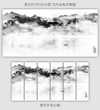新中式风格水墨山水装饰画