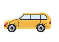 原创手绘插画小汽车卡通素材PSD