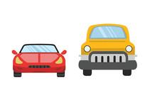 原创手绘交通安全车辆小汽车素材PSD