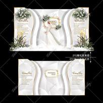 大理石婚礼效果图设计高级灰婚庆迎宾区背景