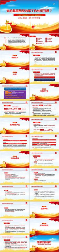 中国共产党基层组织选举工作条例PPT