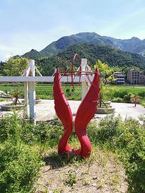 党建雕塑翅膀