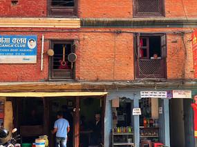 泰國街頭小商鋪紅磚墻面 JPG