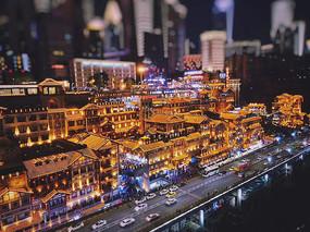 重庆夜景意向图 重庆街道 JPG