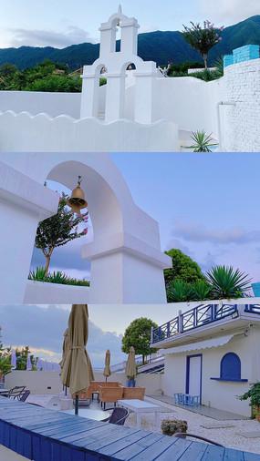 白色建筑游玩照片 JPG