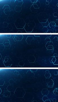 4K蓝色科技空间线条穿梭元素视频背景素材
