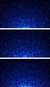 4K蓝色粒子闪烁线条上升空间颁奖视频背景素材