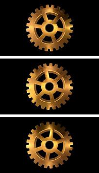 4K通道循环金属齿轮视频背景素材